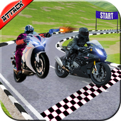 Bike Race Stunt Attack - Motorcycle Death Racing icon