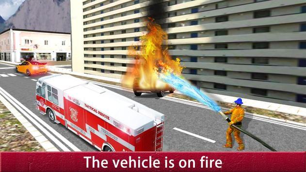 US City Rescue Fireman Simulator-Fire Brigade Game screenshot 9