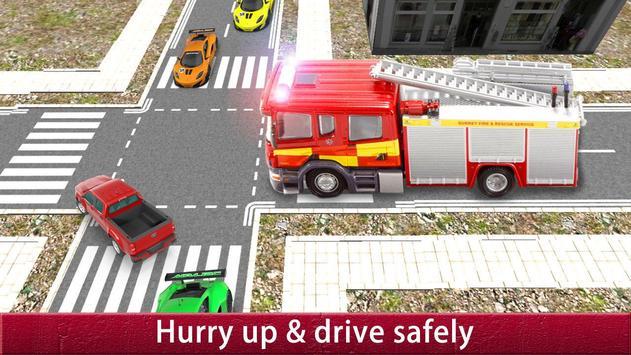 US City Rescue Fireman Simulator-Fire Brigade Game poster