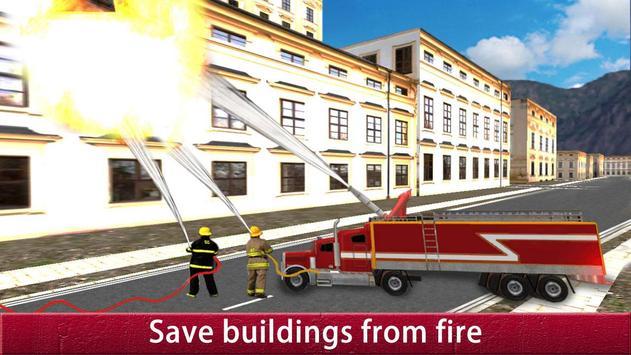 US City Rescue Fireman Simulator-Fire Brigade Game screenshot 13