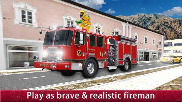 US City Rescue Fireman Simulator-Fire Brigade Game screenshot 2
