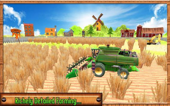 Farming Harvester Simulator 2017 apk screenshot