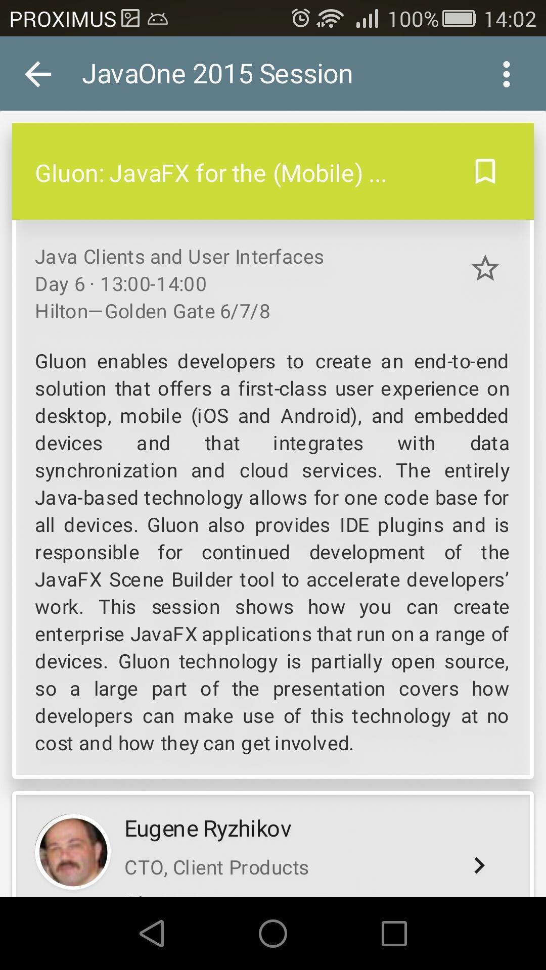 Gluon Javafx