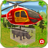 Animal Rescue Helicopter Sim icon