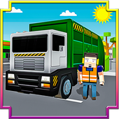 Blocky Garbage Transport Truck icon