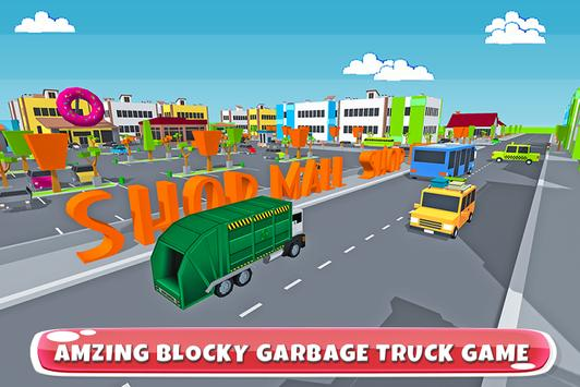 Blocky Garbage Transport Truck poster