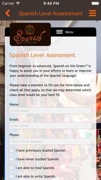 Spanish on the Green apk screenshot