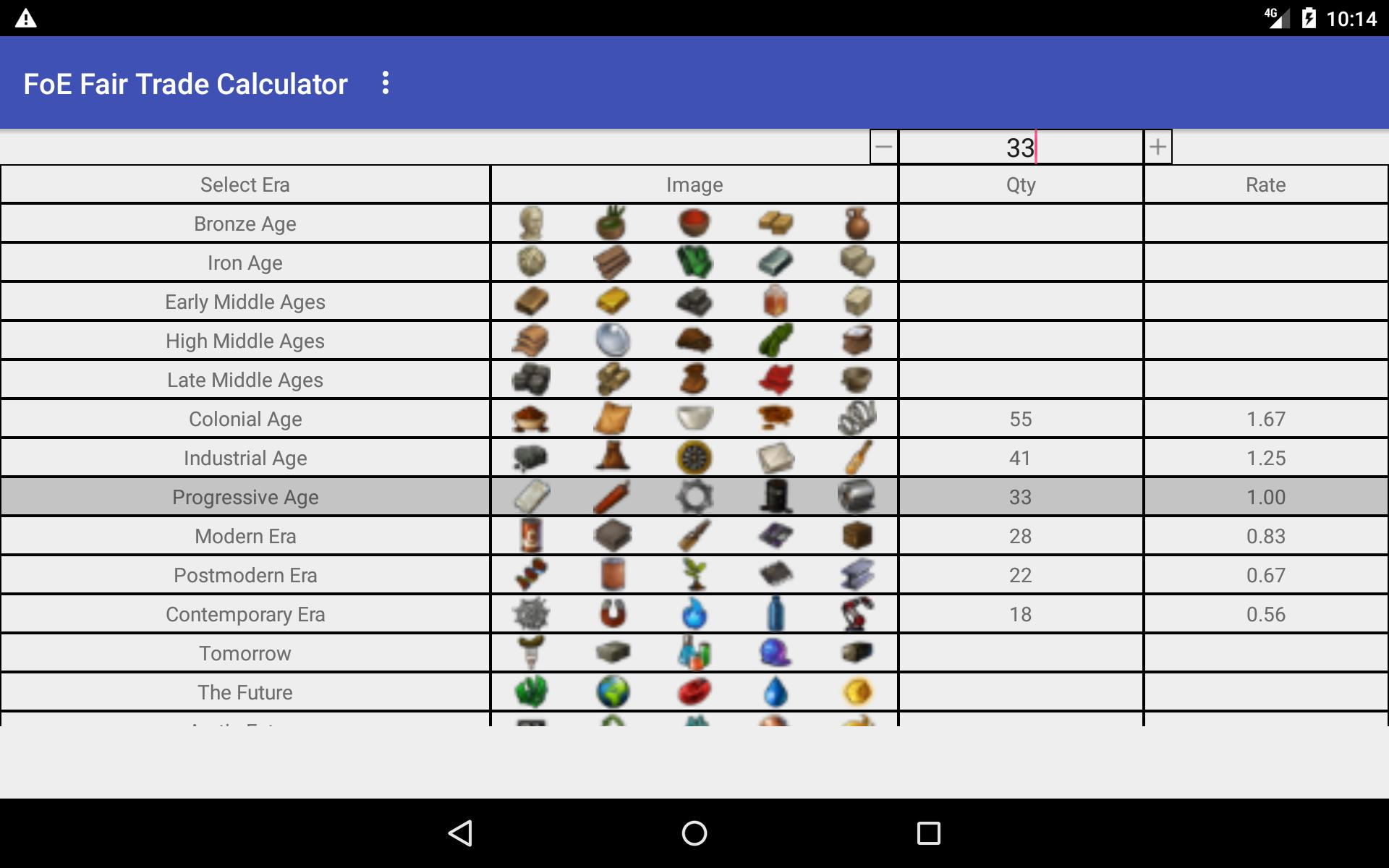 FoE Calculator for Android - APK Download