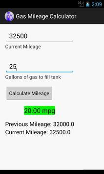 Gas Mileage Calculator poster