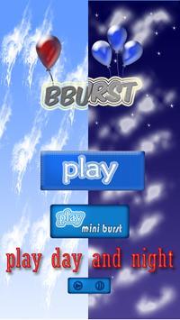 BBurst : balloons burst poster