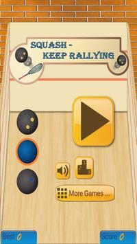 Squash - Keep Rallying poster