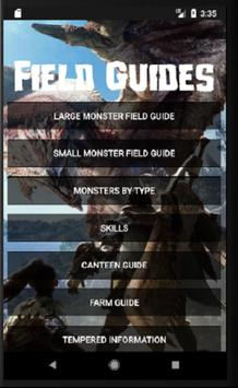 Field Guides for MHW poster