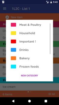 1L2C - Grocery List screenshot 1