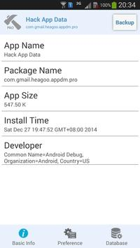 Hack App Data apk screenshot