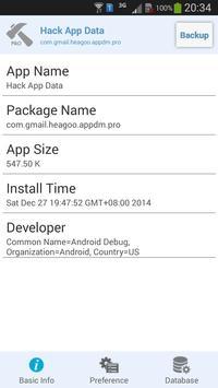 Hack App Data apk screenshot