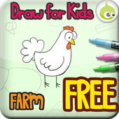 Draw for Kids, Farm Animal icon