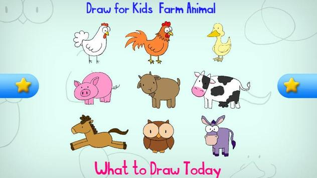 Draw for Kids, Farm Animal screenshot 2