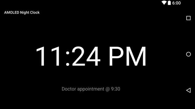 AMOLED Night Clock screenshot 1