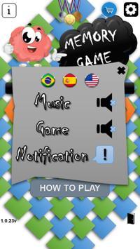 Juego de la memoria Diversas Fases captura de pantalla de la apk
