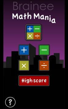 Brainee: Math Mania drop game screenshot 3