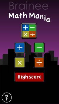 Brainee: Math Mania drop game poster