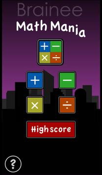 Brainee: Math Mania drop game screenshot 4