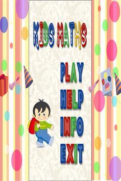 KIDS MATHEMATICS poster
