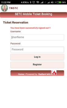 TNSTC SETC RED BUS TICKET BOOKING apk screenshot