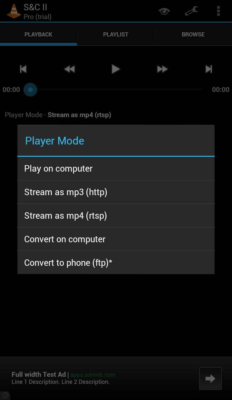 VLC Stream & Convert II cho Android - Tải về APK