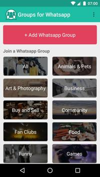 Groups for Whatsapp poster
