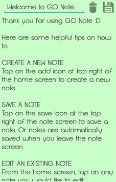 GO Note apk screenshot