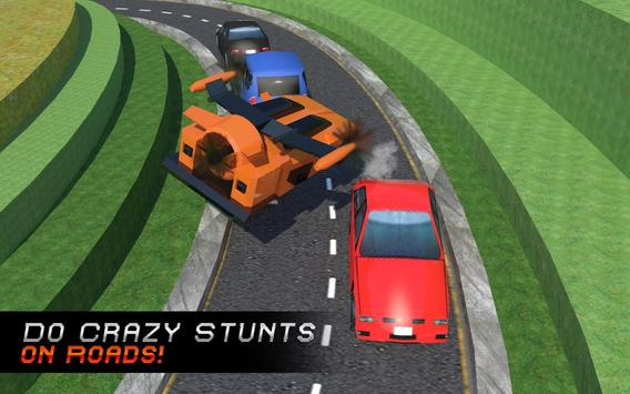Futuristic Blocky Flying Car apk screenshot
