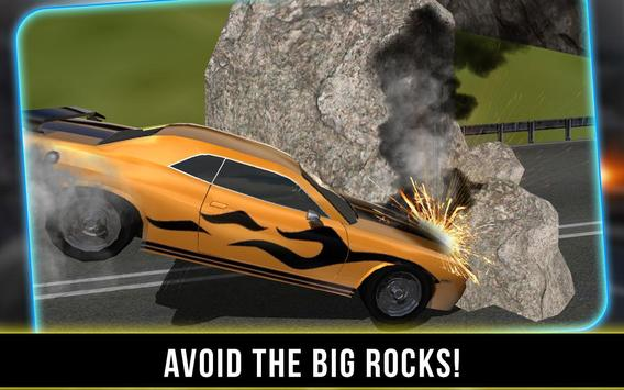 Landslide Car Crash Hill Climb apk screenshot