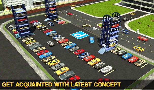 Smart Car Parking Crane Driver 3D Sim: Multi Level screenshot 16