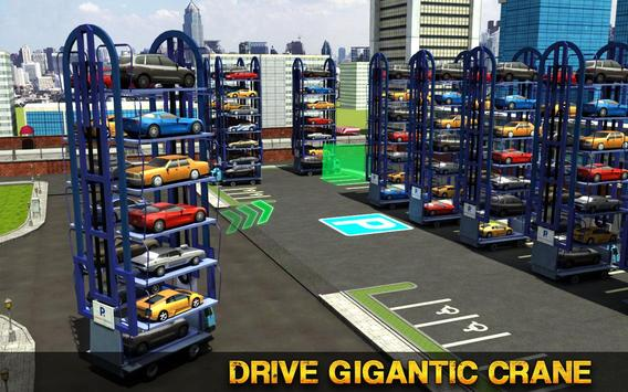Smart Car Parking Crane Driver 3D Sim: Multi Level apk screenshot