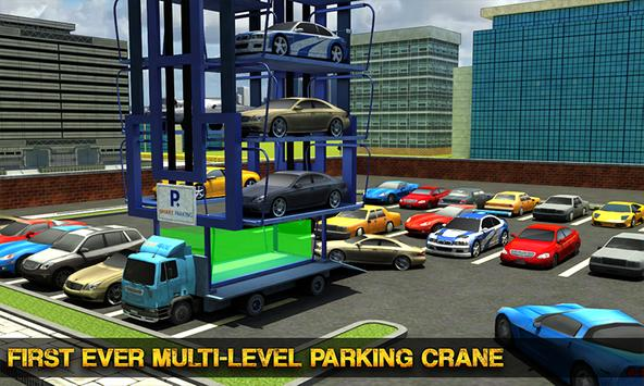 Smart Car Parking Crane Driver 3D Sim: Multi Level screenshot 1