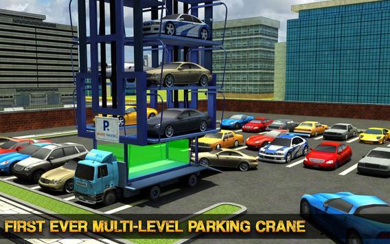Smart Car Parking Crane Driver 3D Sim: Multi Level screenshot 7