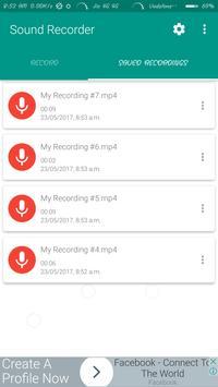 Sound Recorder - simple , easy apk screenshot