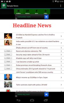 Bangladesh News apk screenshot