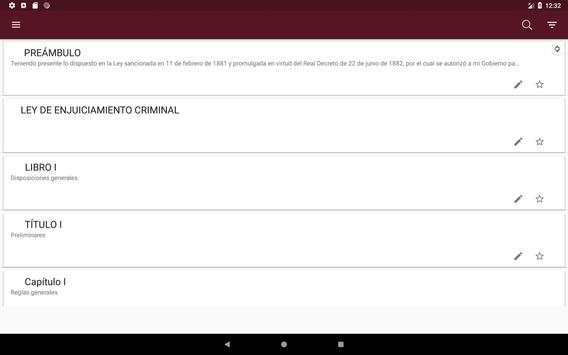 L.E.Crim. - Ley de Enjuciamiento Criminal Español screenshot 6