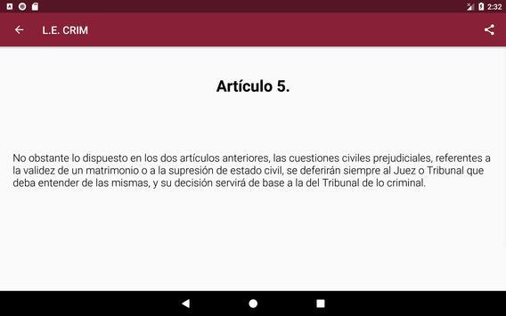 L.E.Crim. - Ley de Enjuciamiento Criminal Español screenshot 8