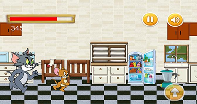 Tom jump and Jerry run in the kitchen screenshot 1