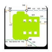 지하철 부산 대구 노선 지도 icon