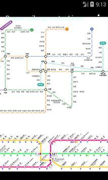 지하철 부산 대구 노선 지도 poster