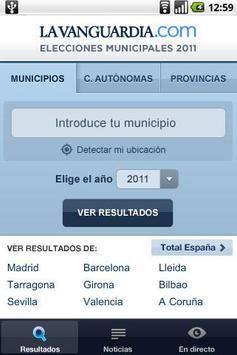RESULTADOS ELECCIONES 2011 apk screenshot