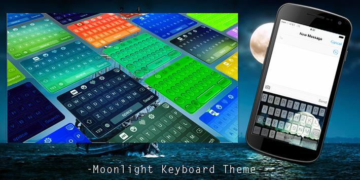 Moonlight Keyboard Theme poster