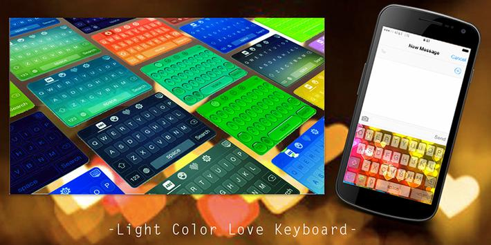 Light Color Love Keyboard poster