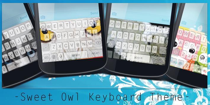 Sweet Owl Keyboard Theme poster