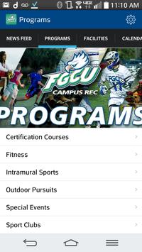 FGCU Campus Recreation Poster