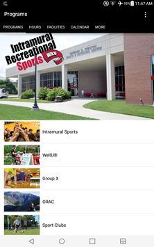 WKU Campus Recreation poster
